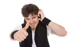 Man Enjoying Music Stock Photography