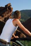 Man enjoying outdoors Stock Photography