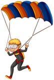 A man enjoying the parachute Stock Photo