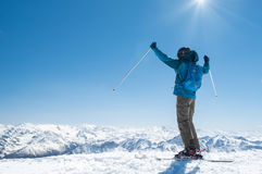 Man enjoying ski Stock Photography