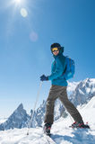 Man enjoying skiing Royalty Free Stock Photos