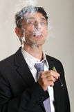 Man enjoying smoking an e-cigarette Stock Photography