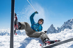 Man enjoying snow ski Royalty Free Stock Image