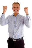 Man enjoying success Stock Photos