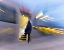 Man entering double decker train Stock Photography