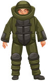 Man in EOD suit. Illustration Royalty Free Stock Images