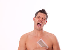 Man Epilation Stock Photography