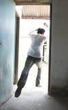 Man escape stock images