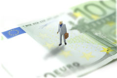 Man on euro Royalty Free Stock Image
