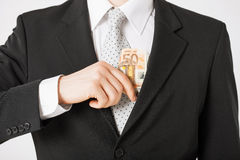 Man with euro cash money Royalty Free Stock Photos
