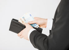 Man with euro cash money Royalty Free Stock Image