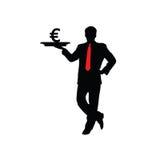 Man with euro icon  Stock Image