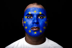 Man Europe flag Stock Image