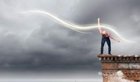 Man evades light Royalty Free Stock Photos