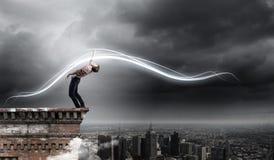 Man evades light Royalty Free Stock Photography