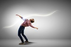 Man evades light Royalty Free Stock Images