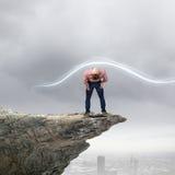 Man evades light Royalty Free Stock Image