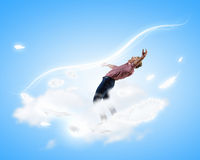 Man evading from items Royalty Free Stock Photography