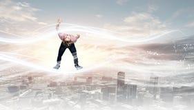 Man evading from items Royalty Free Stock Photos