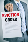 Man with an eviction order Royalty Free Stock Images