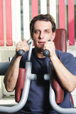 Man at exercise Stock Photo