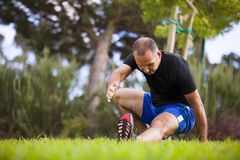 Man exercise Stock Photography