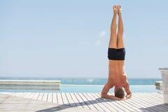 Man exercise outdoors Royalty Free Stock Photo