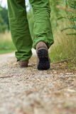 Man exercise walking in park Royalty Free Stock Image