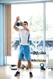 Man exercise with weights Royalty Free Stock Images