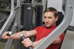 Man exercising Stock Image