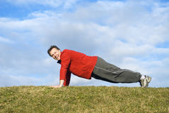 Man exercising. Stock Images
