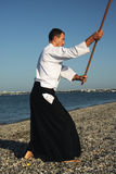 Man exercising aikido Royalty Free Stock Image