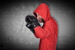 Man exercising boxing Royalty Free Stock Photos