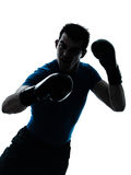 Man exercising boxing boxer posture Royalty Free Stock Image