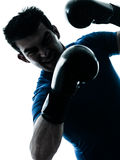 Man exercising boxing boxer posture Royalty Free Stock Photo