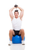 Man exercising dumbbell Stock Images