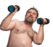 Man exercising with dumbbells Royalty Free Stock Photos