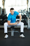 Man exercising with dumbbells Royalty Free Stock Photography