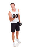 Man exercising dumbbells Royalty Free Stock Photo