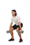Man exercising with dumbbels Stock Image