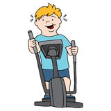 Man Exercising on Elliptical Royalty Free Stock Image