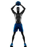 Man exercising fitness weights exercises Royalty Free Stock Photo
