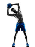 Man exercising fitness weights exercises Royalty Free Stock Image