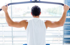 Man exercising at the gym Stock Image
