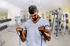 Man exercising in gym Royalty Free Stock Photo