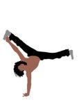 Man exercising gymnastics Stock Image