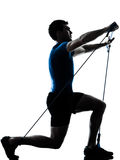 Man exercising gymstick workout fitness posture Royalty Free Stock Photo