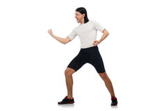 Man exercising Stock Images