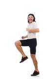 Man exercising isolated on white Royalty Free Stock Image