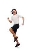 Man exercising isolated on white Royalty Free Stock Images